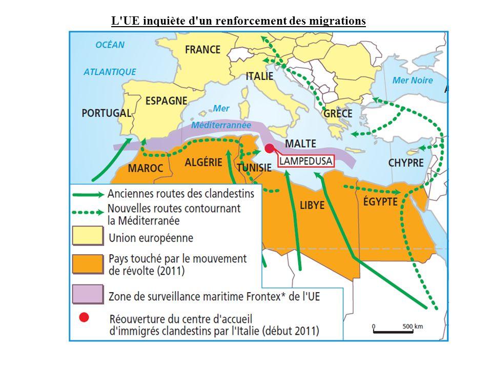 L'UE inquiète d'un renforcement des migrations