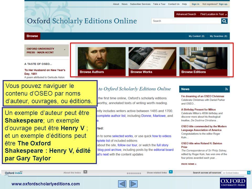 www.oxfordscholarlyeditions.com Les différents sujets traitent la littérature Anglaise, la philosophie, lhistoire et la religion.