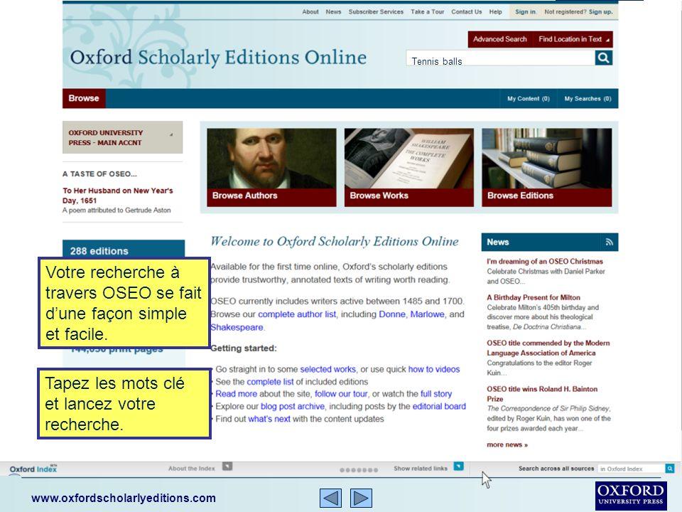 www.oxfordscholarlyeditions.com Vous pouvez naviguer le contenu dOSEO par noms dauteur, ouvrages, ou éditions.