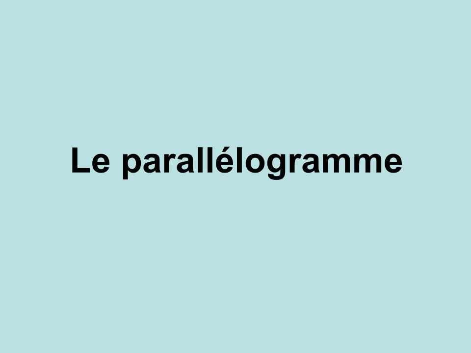 Réciproque de la propriété n°1 Si un quadrilatère A DC B (AB) // (DC) et (AD) // (BC) alors cest un parallélogramme.
