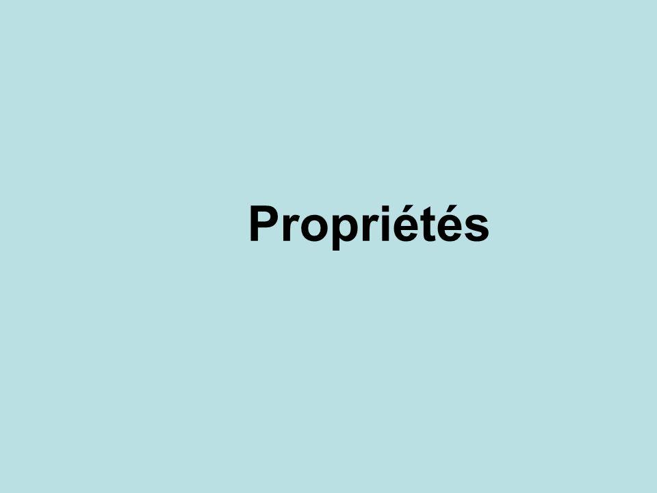 Propriétés