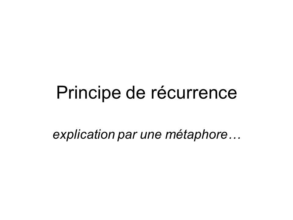 Principe de récurrence explication par une métaphore…