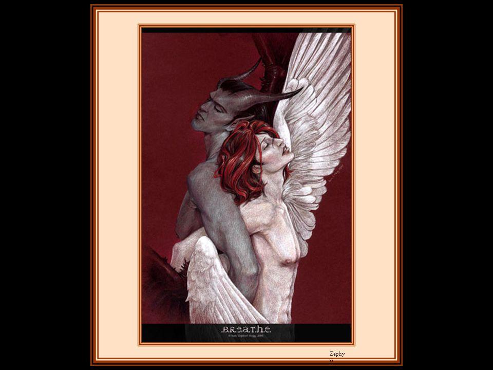 Je vis l'amour et la haine se jouer du cœur humain : l'amour lui dissimulait ses fautes, l'enivrait du vin de la soumission et lui déliait la langue e
