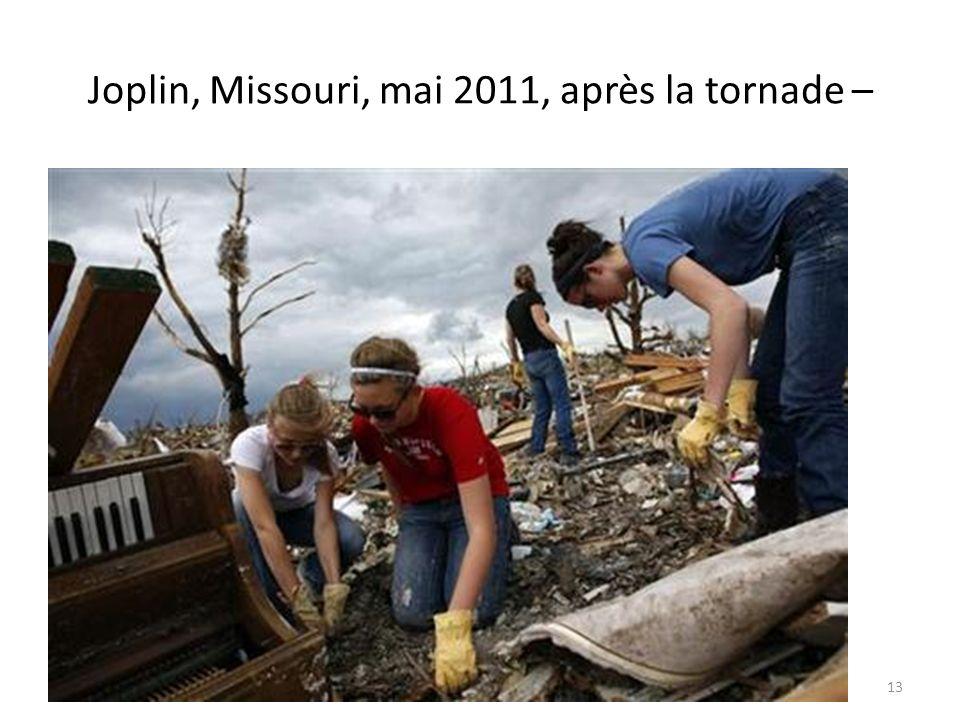 Joplin, Missouri, mai 2011, après la tornade – 13
