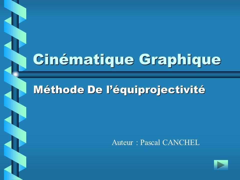 Cinématique Graphique Méthode De léquiprojectivité Auteur : Pascal CANCHEL
