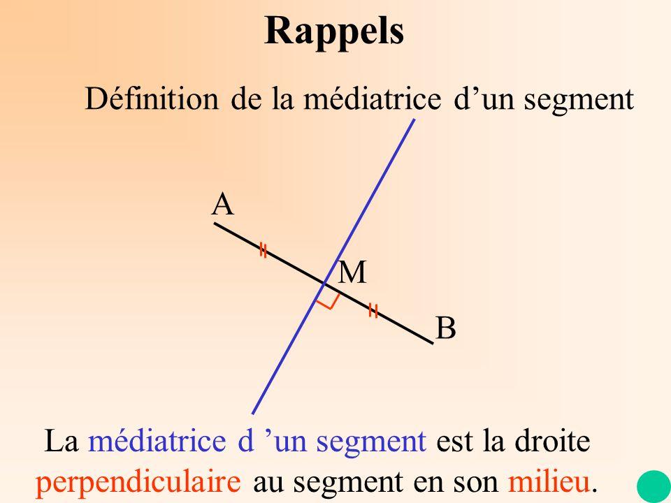 Construction de la médiatrice dun segment A B Rappels