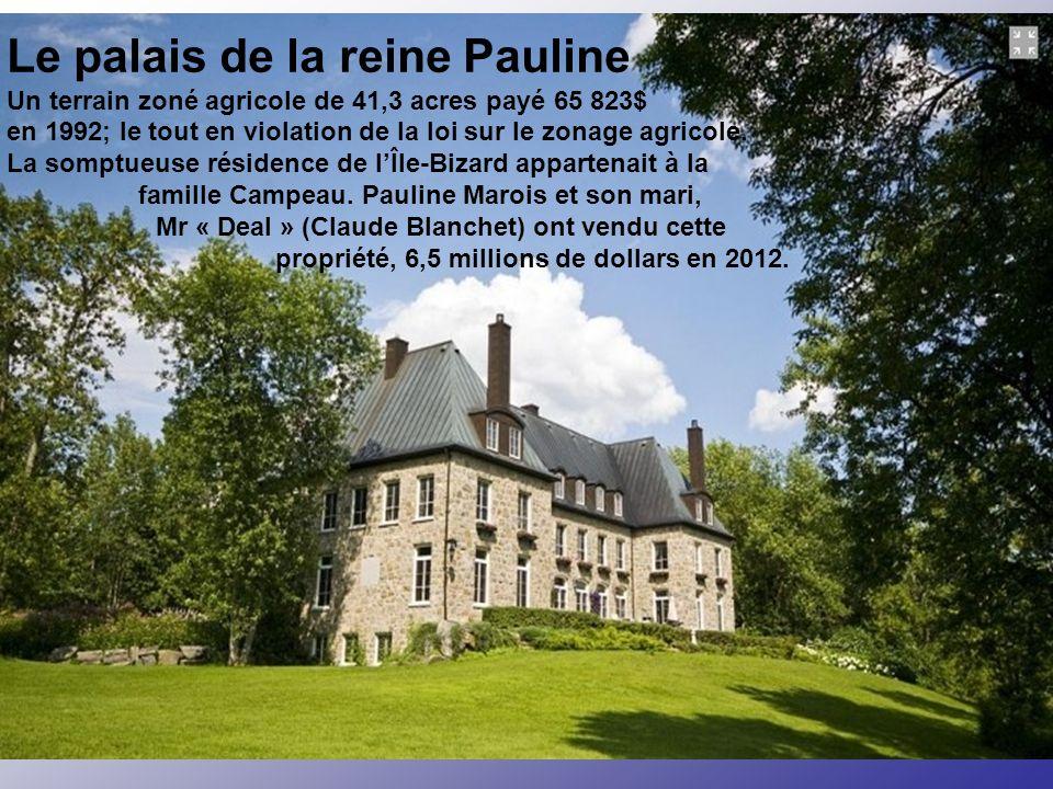 Une histoire révoltante Ceci est l'histoire de la vraie impératrice québécoise et de son palais des mille et une nuits. Une saga que tous les médias Q