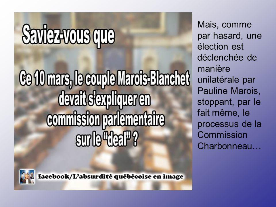 Maintenant, des nouvelles de Perceptions inc: Le 14 septembre 2007, l'Autorité des Marchés Financiers (AMF) émet un avis formel à Claude Blanchet, Bar