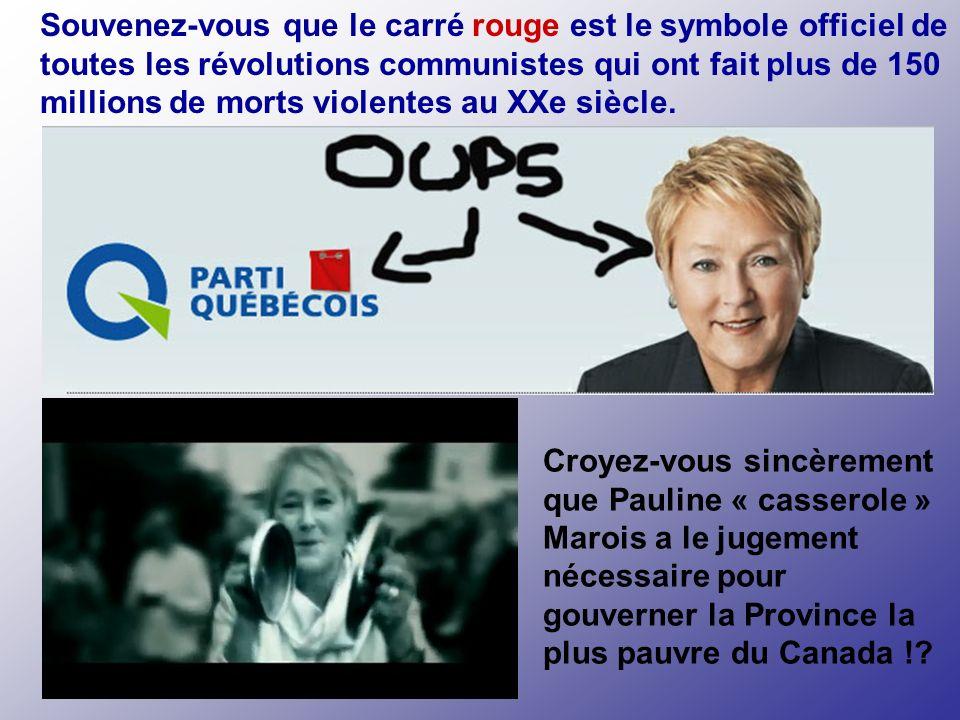 La hautaine Pauline « caviar » Marois Arrivé à ce point, vous croyez certainement que vous avez tout vu?