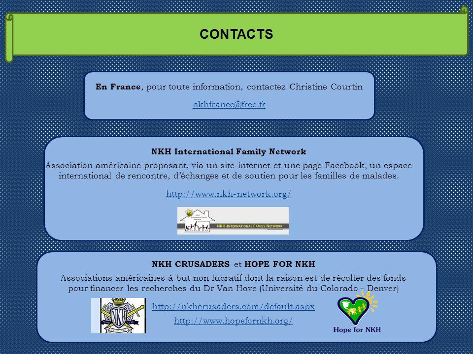 CONTACTS NKH International Family Network Association américaine proposant, via un site internet et une page Facebook, un espace international de renc