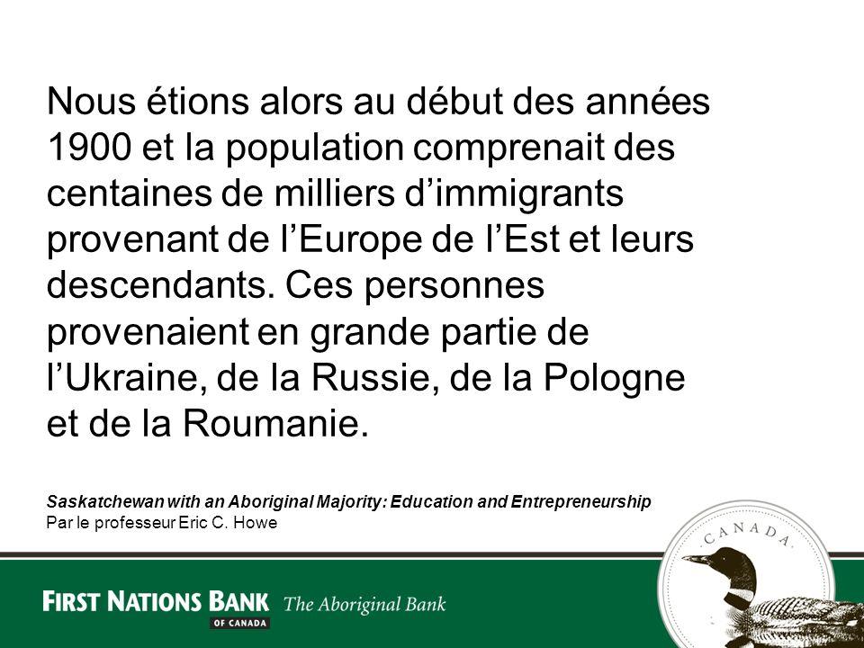 Nous étions alors au début des années 1900 et la population comprenait des centaines de milliers dimmigrants provenant de lEurope de lEst et leurs descendants.