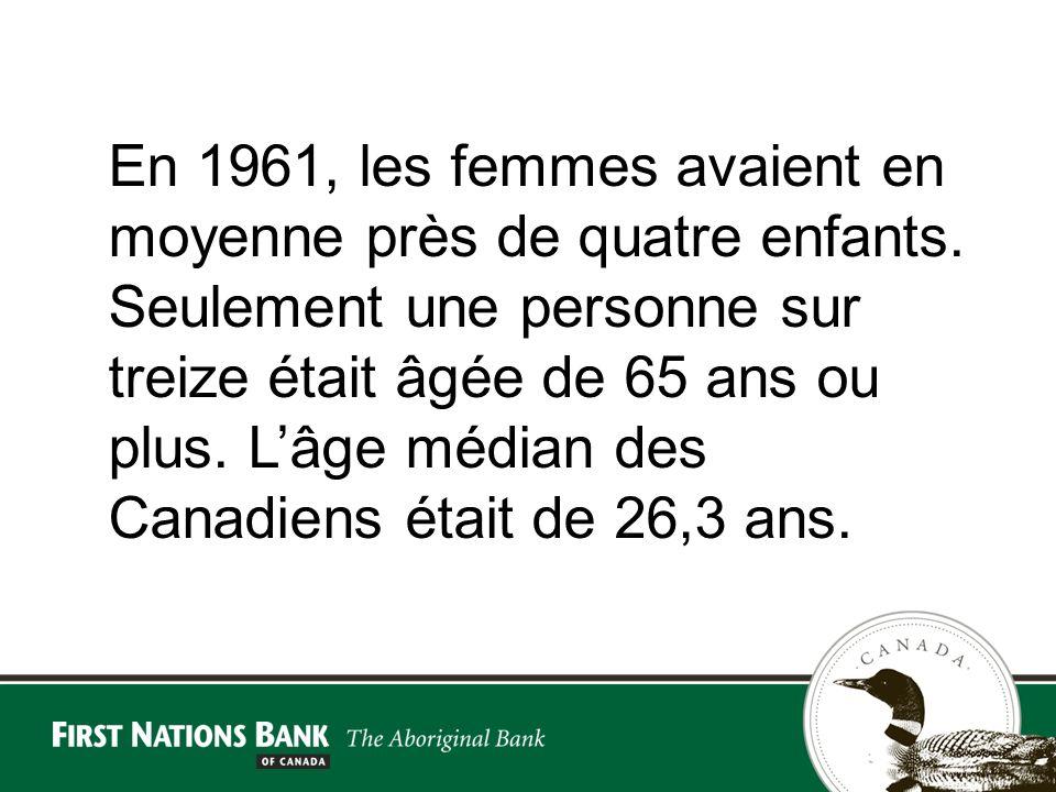 En 1961, les femmes avaient en moyenne près de quatre enfants.