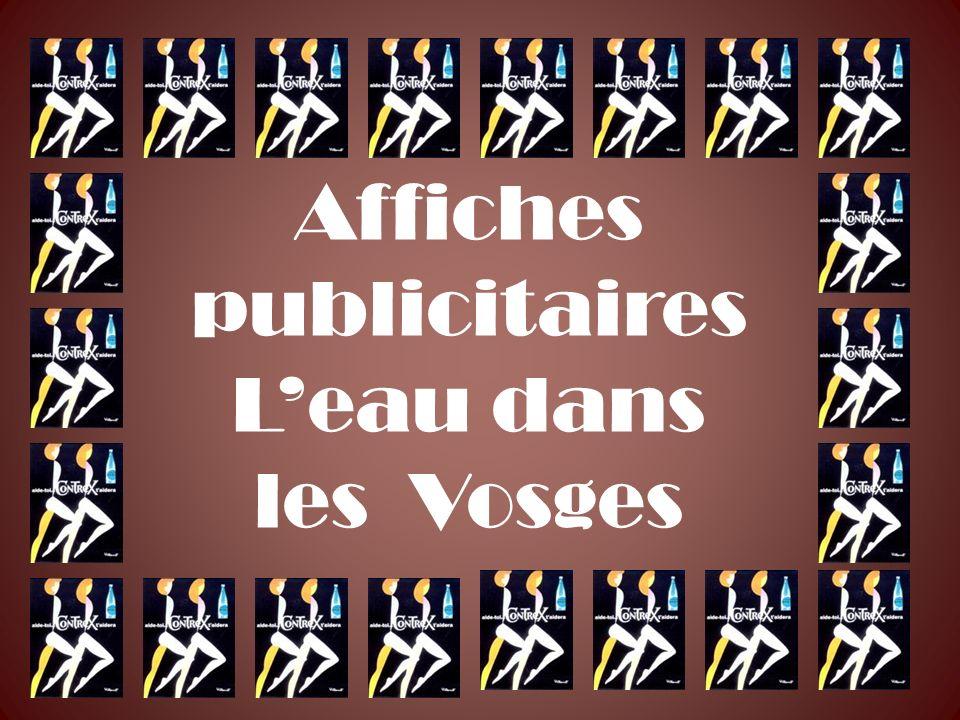 Affiches publicitaires Leau dans les Vosges