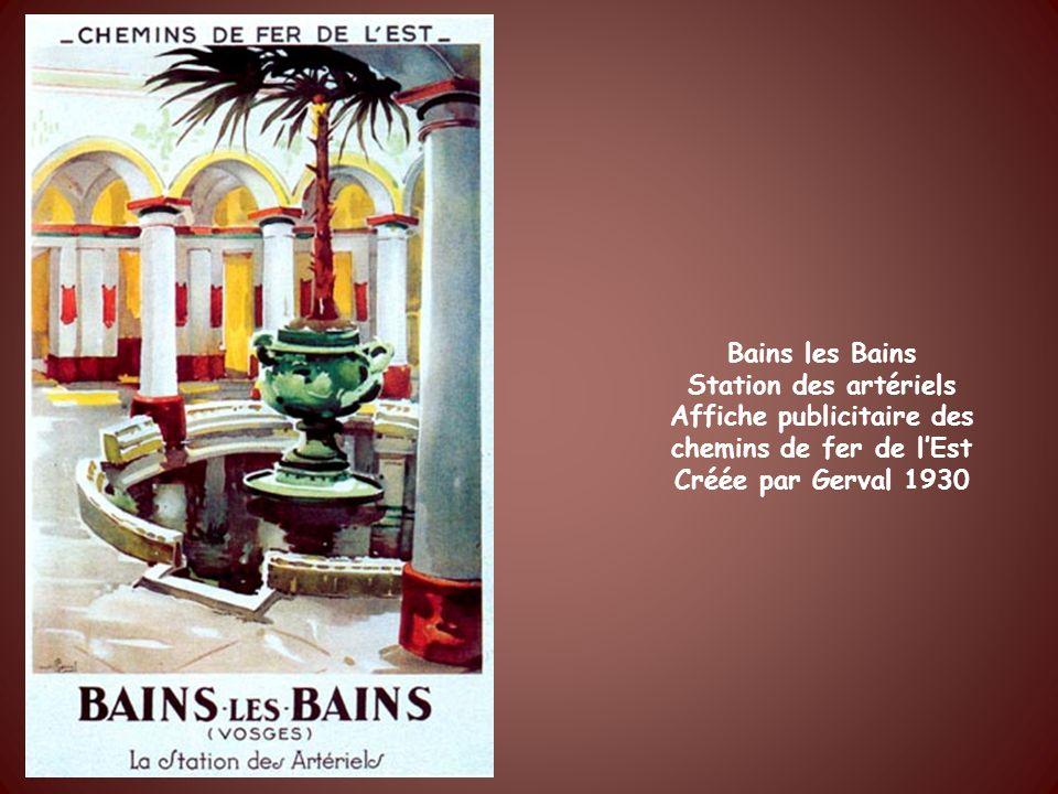 Plombières les Bains Soins estomac intestin rhumatisme Affiche des Chemins de Fer de lEst Par Heulluy 1926