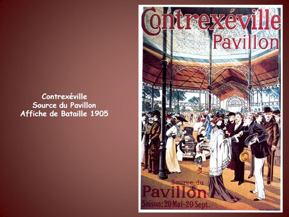 Contrexéville Source du Pavillon Affiche de Courbet 1900