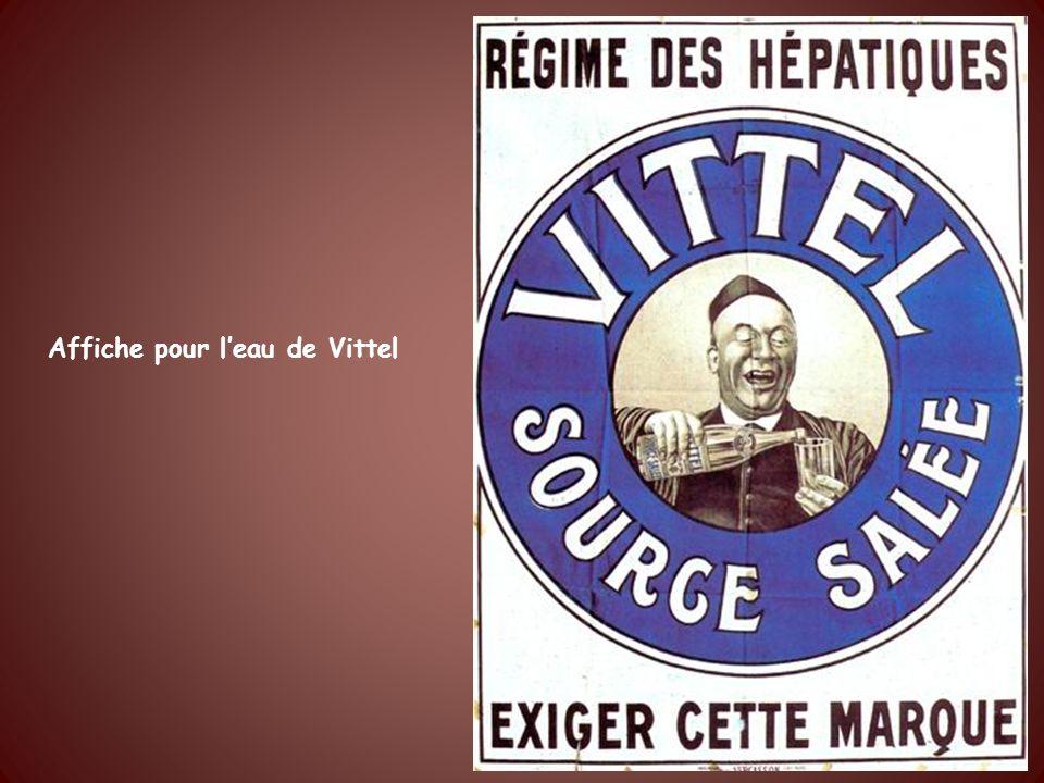 Affiche pour leau de Vittel