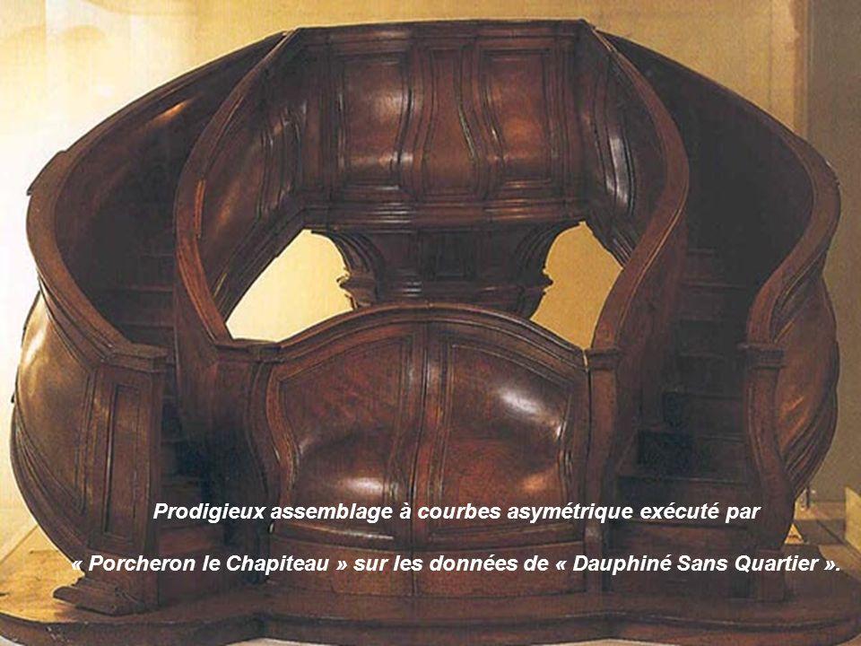 Détail du grand chef-dœuvre des Compagnons charrons du Devoir de Tours, réalisé en 1887-1888 sous la direction de Philippe Leroux dit Tourangeau la Cl