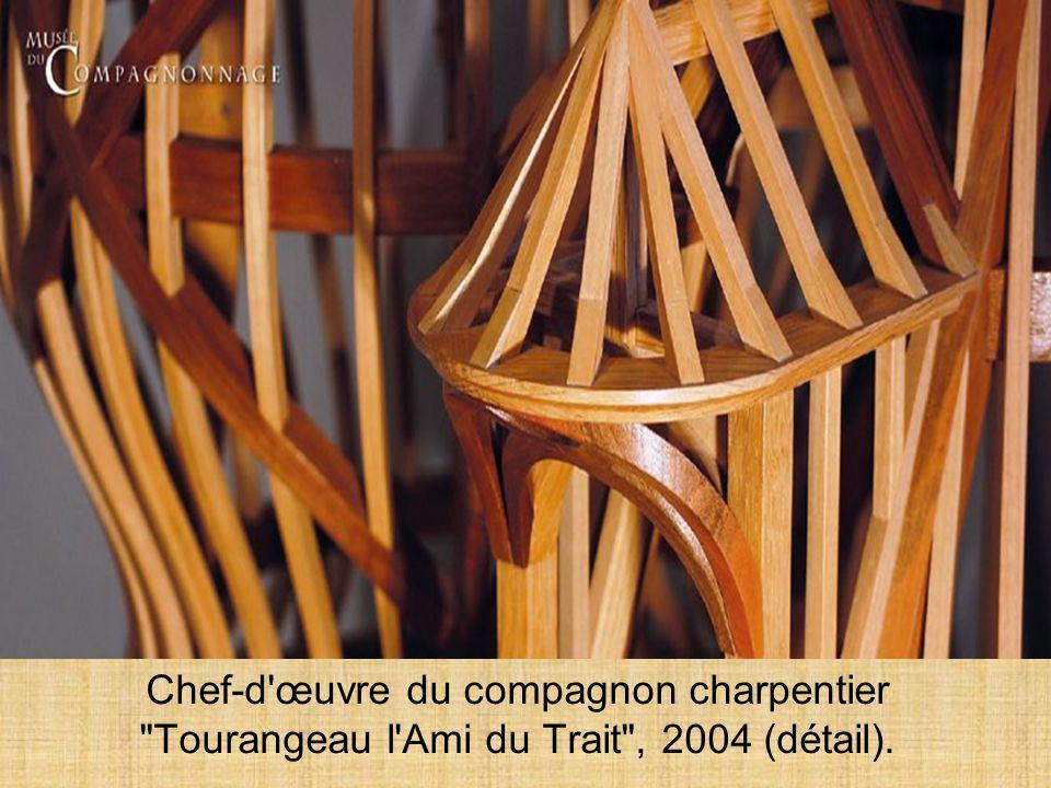 Charpente « Musseau » Réalisé pour le 22ème concours des Meilleurs Ouvriers de France (2004), « Tourangeau lAmi du Trait », Compagnon charpentier des