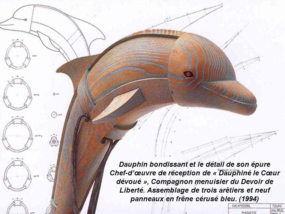 Le roi Salomon Buste en chêne sculpté, chef-dœuvre de Réception de Matthieu van der Hoeden dit « Brabançon le Disciple des Arts », Compagnon sculpteur