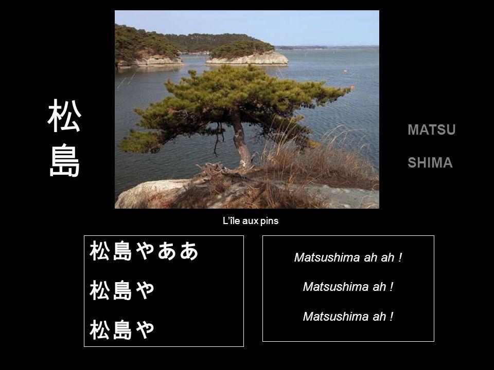 Trois étapes de ses périples sont particulièrement célèbres : L île aux pins Le Mont Fuji Hiraizumi