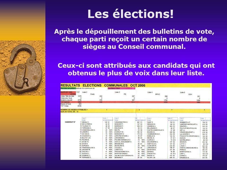 Les élections.