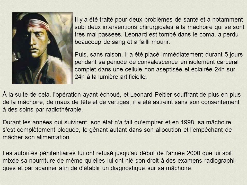 En novembre 1993, la Commission des libérations sur parole a répondu négativement sur le cas de Leonard et a décrété arbitrairement que son dossier ne