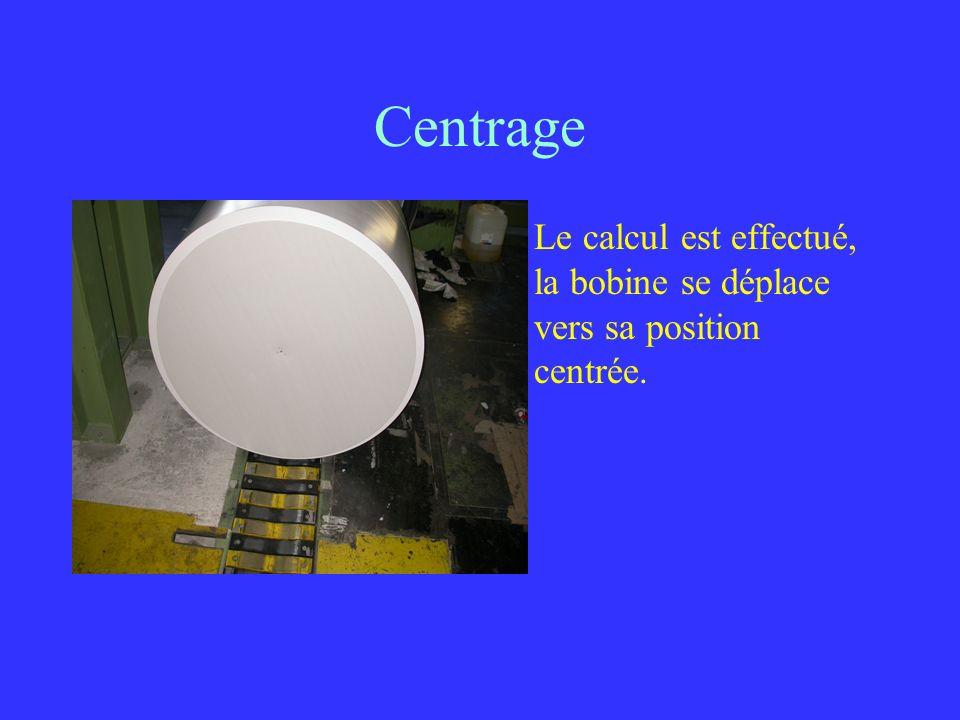 Centrage Le calcul est effectué, la bobine se déplace vers sa position centrée.