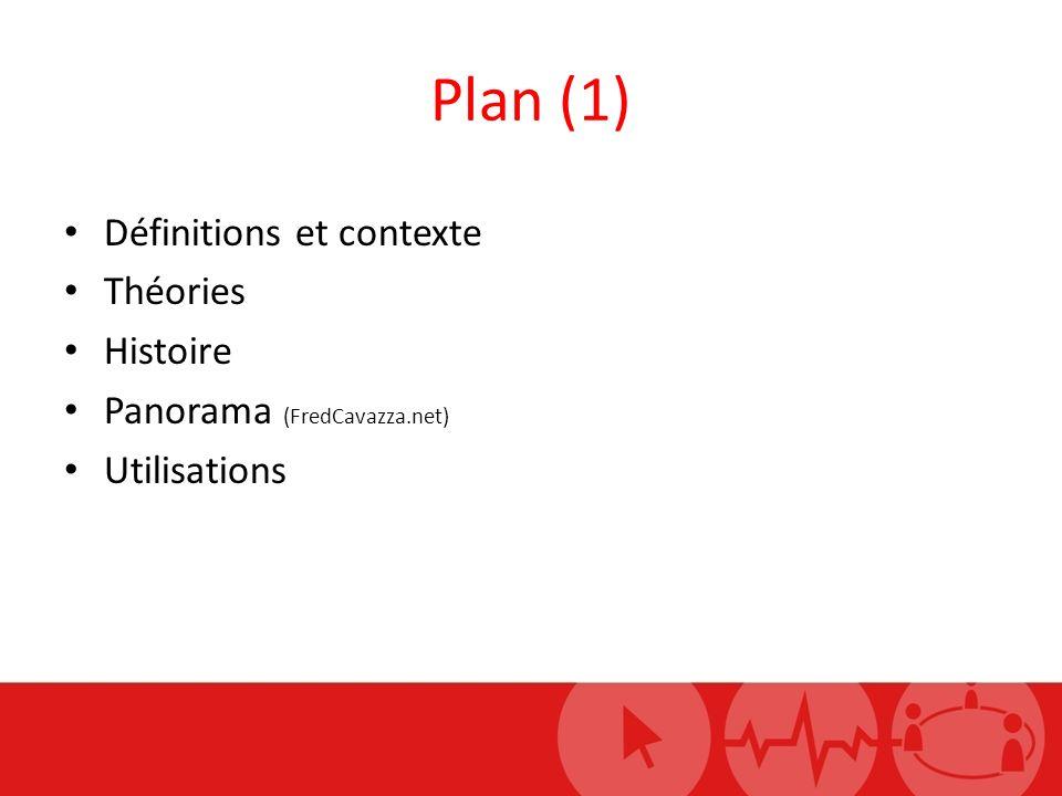 Plan (1) Définitions et contexte Théories Histoire Panorama (FredCavazza.net) Utilisations