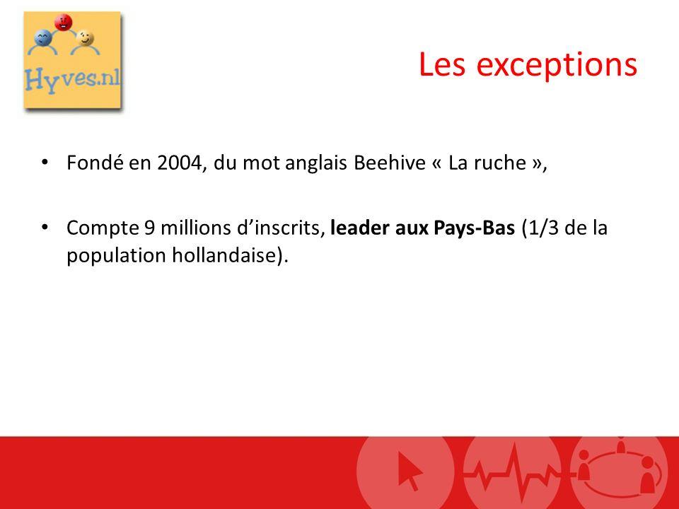 Fondé en 2004, du mot anglais Beehive « La ruche », Compte 9 millions dinscrits, leader aux Pays-Bas (1/3 de la population hollandaise). Les exception