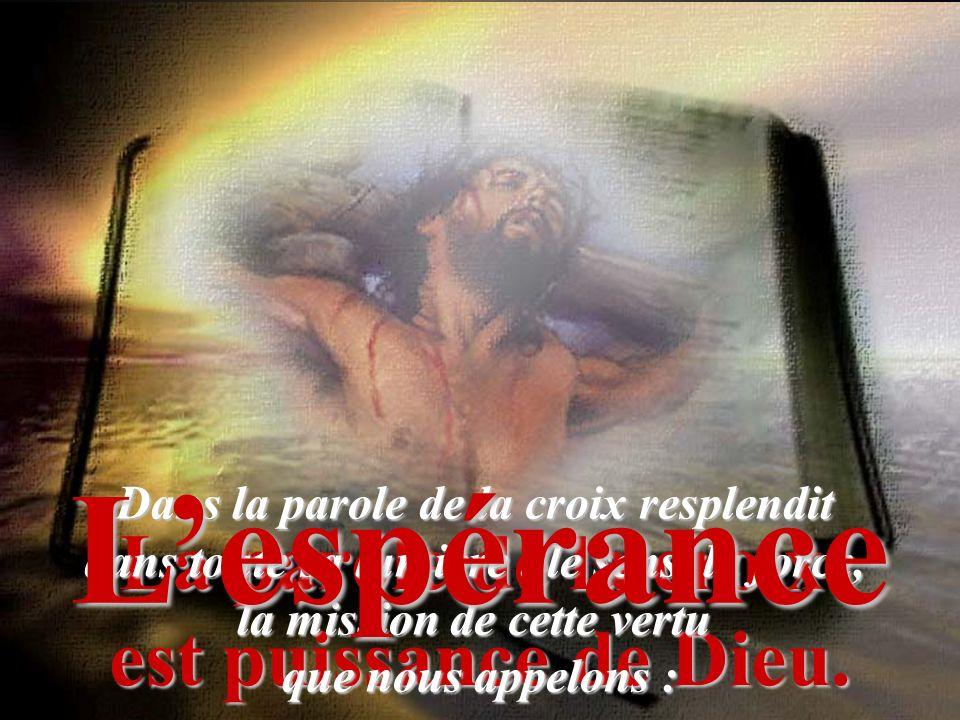 Lespérance ne déçoit point, parce que lamour de Dieu a été répandu dans nos coeurs par le Saint Esprit qui nous fut donné. Cest en effet alors que nou