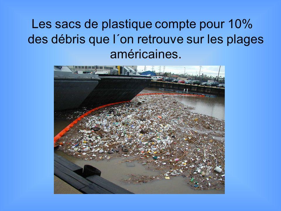 Les sacs de plastique compte pour 10% des débris que l´on retrouve sur les plages américaines.
