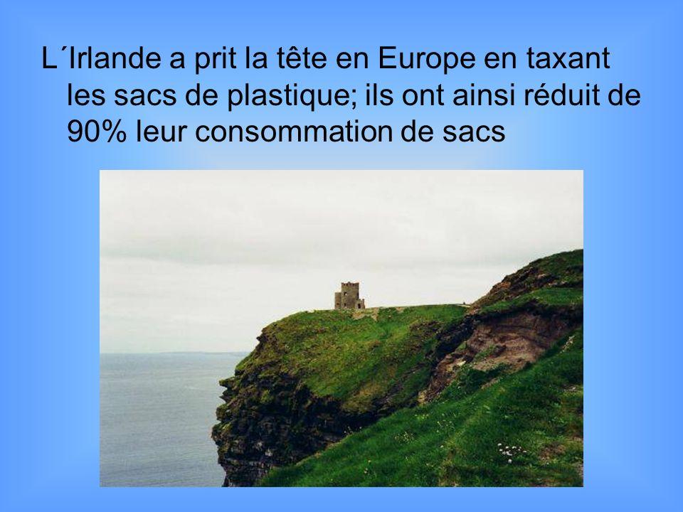 L´Irlande a prit la tête en Europe en taxant les sacs de plastique; ils ont ainsi réduit de 90% leur consommation de sacs