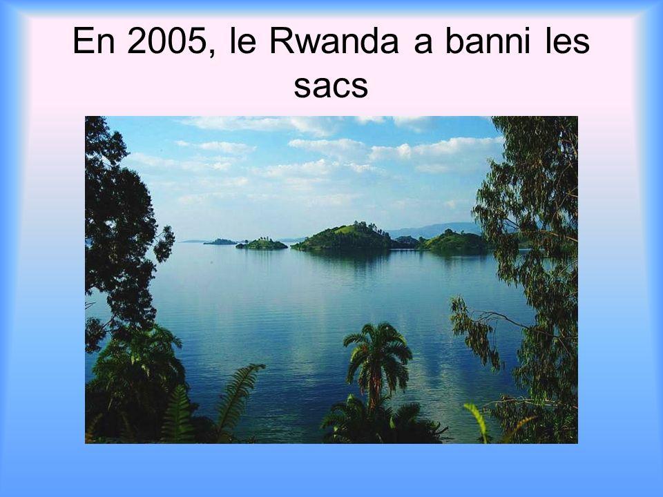 En 2005, le Rwanda a banni les sacs
