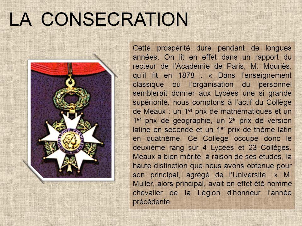 LE COLLEGE DEVIENT LYCEE Peu à peu, pour des raisons démographiques et institutionnelles, le Collège a dû être transformé en Lycée, actuellement le Lycée Henri Moissan.