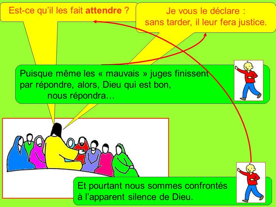 Extrait de « Mille images dÉvangile » de Jean François KIEFFER (Presse dÎle de France) Est-ce quil les fait attendre ? Je vous le déclare : sans tarde