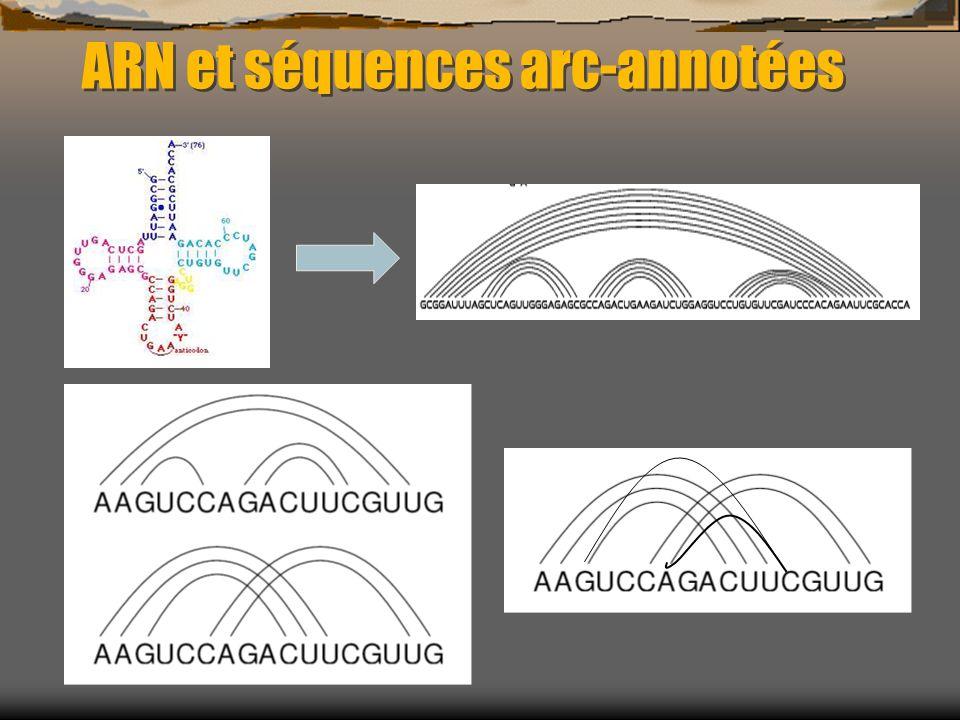 ARN et séquences arc-annotées