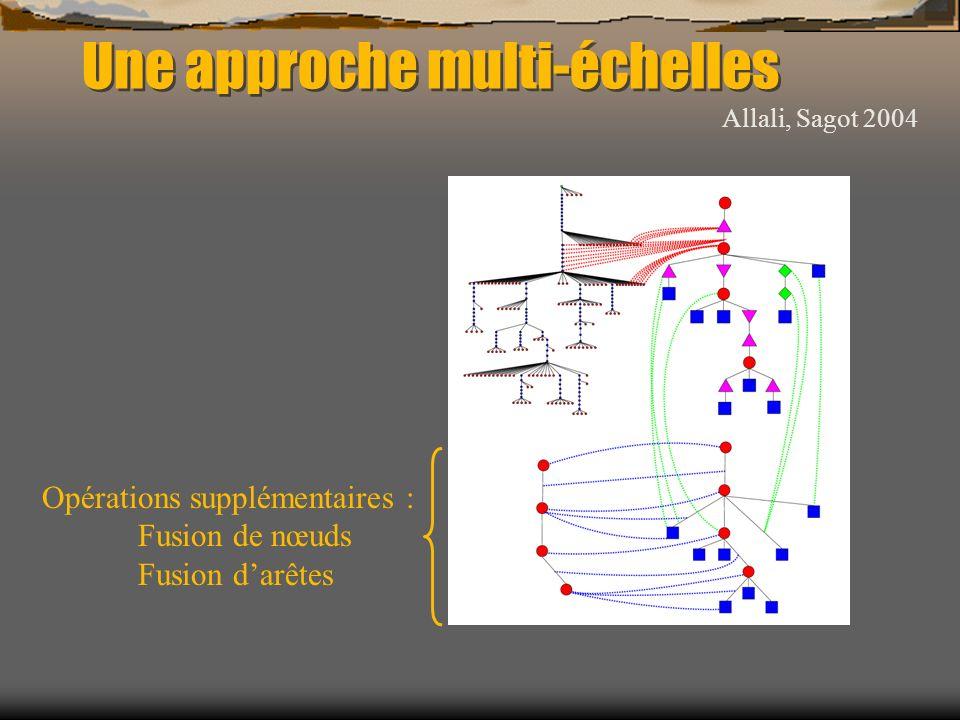 Une approche multi-échelles Allali, Sagot 2004 Opérations supplémentaires : Fusion de nœuds Fusion darêtes