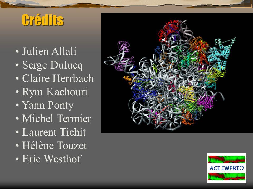 Crédits Julien Allali Serge Dulucq Claire Herrbach Rym Kachouri Yann Ponty Michel Termier Laurent Tichit Hélène Touzet Eric Westhof