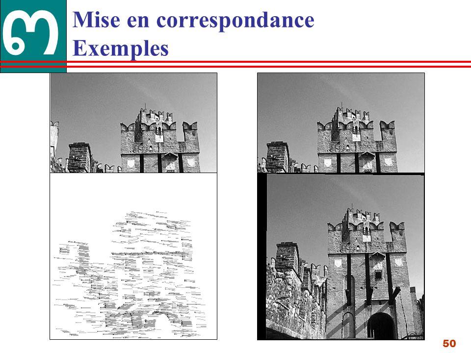 50 Mise en correspondance Exemples