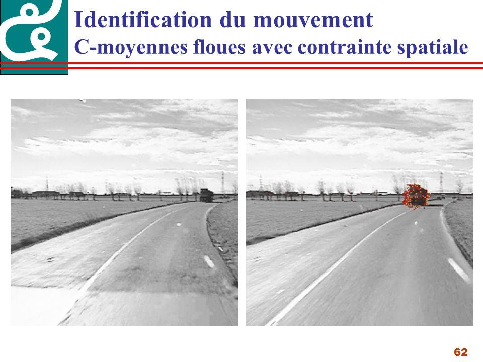 62 Identification du mouvement C-moyennes floues avec contrainte spatiale