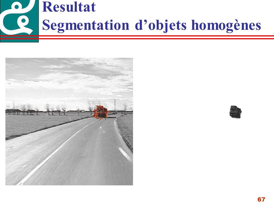 67 Resultat Segmentation dobjets homogènes
