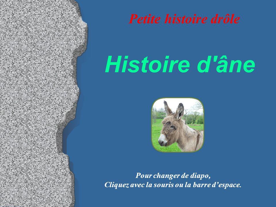 Histoire d âne Pour changer de diapo, Cliquez avec la souris ou la barre despace.