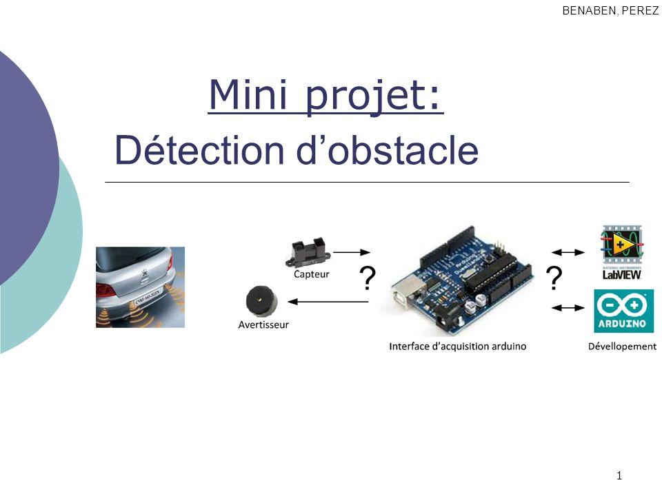 1 Détection dobstacle BENABEN, PEREZ Mini projet: