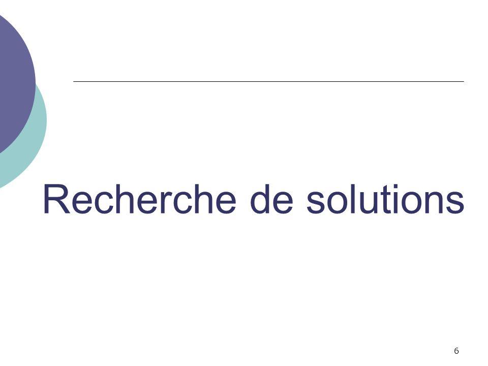 Recherche de solutions 6