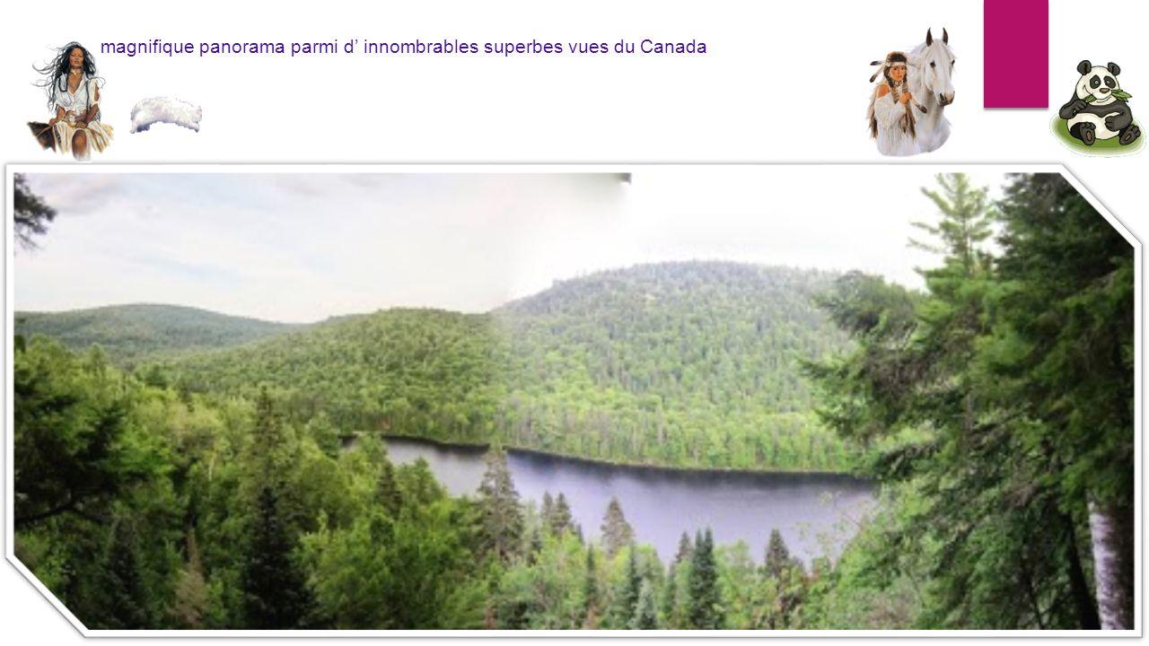 magnifique panorama parmi d innombrables superbes vues du Canada
