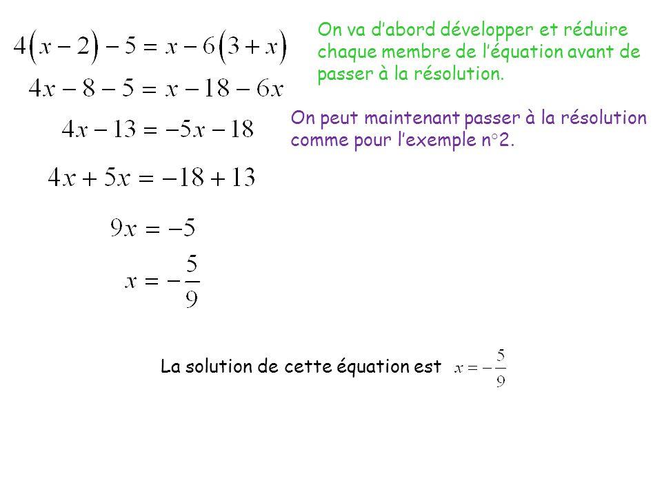 Exemples : Résoudre les inéquations suivantes et représenter les solutions sur une droite graduée.
