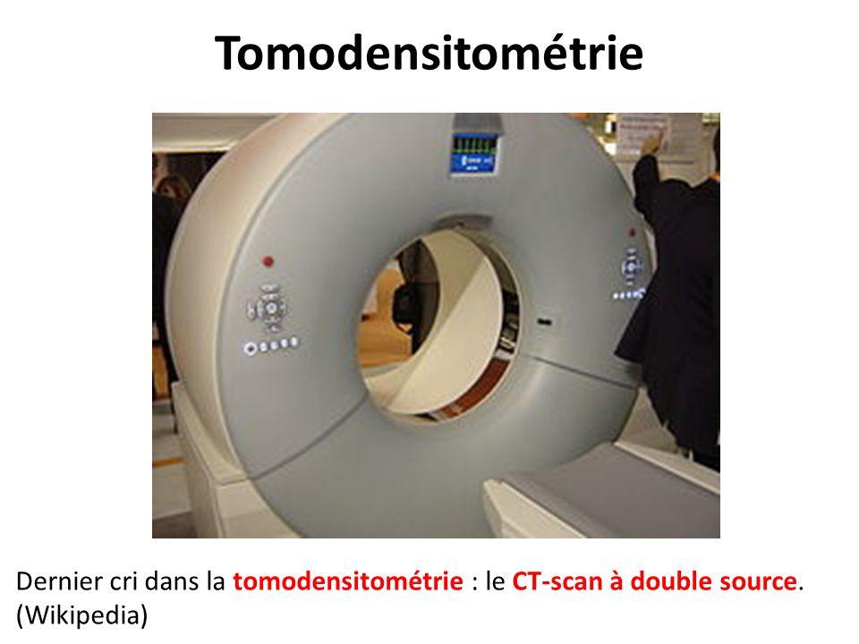 Dernier cri dans la tomodensitométrie : le CT-scan à double source. (Wikipedia)