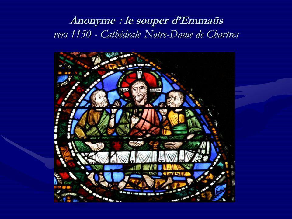 Anonyme : le souper dEmmaüs vers 1150 - Cathédrale Notre-Dame de Chartres