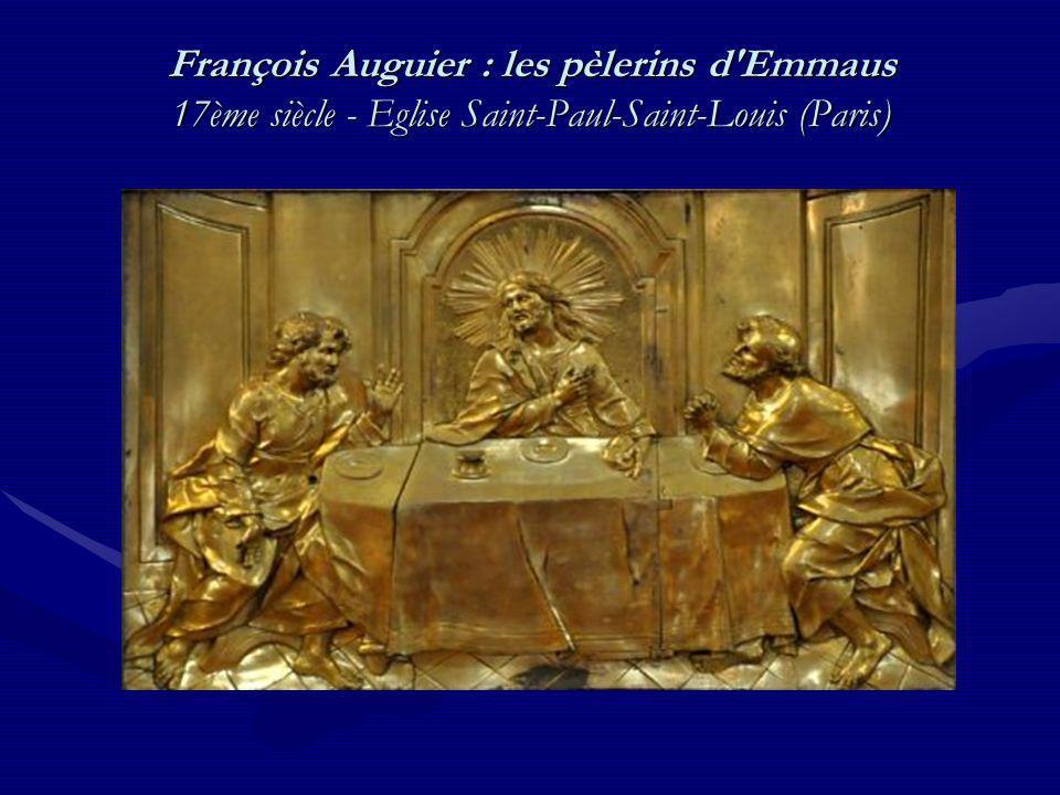 François Auguier : les pèlerins d'Emmaus 17ème siècle - Eglise Saint-Paul-Saint-Louis (Paris)