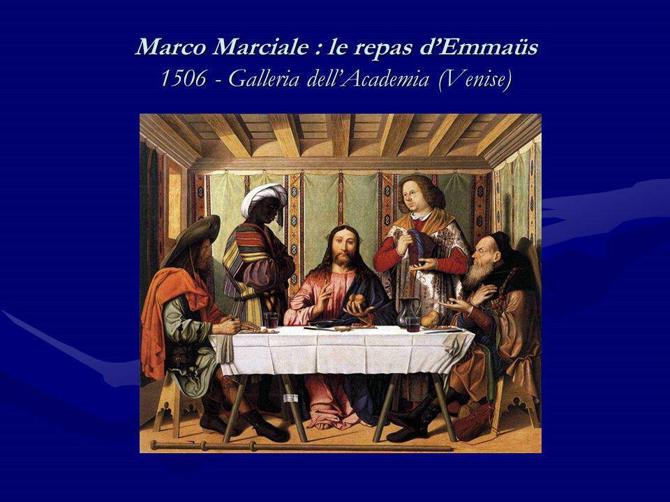 Altobello Melone : le Christ et les deux disciples sur le chemin dEmmaüs 1516 - National Gallery (Londres)